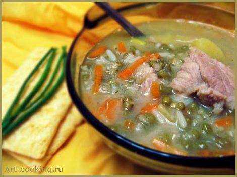 Мясной суп с машем